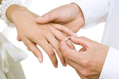 Одевать кольцо обручальное на палец во сне