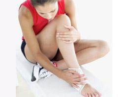 Травма на тренировке (фото)